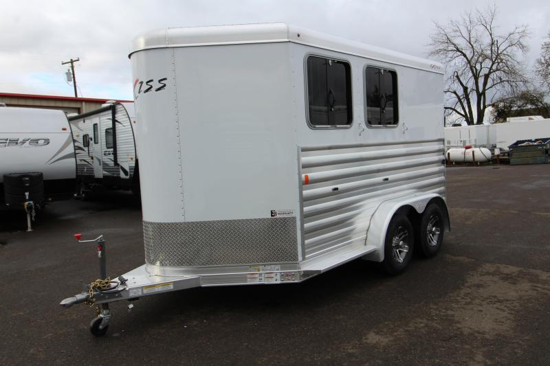 2020 Exiss Express XT 2 Horse Slant Trailer -  All Aluminum Construction - Drop Down Feed Windows -  Slam Latch Dividers