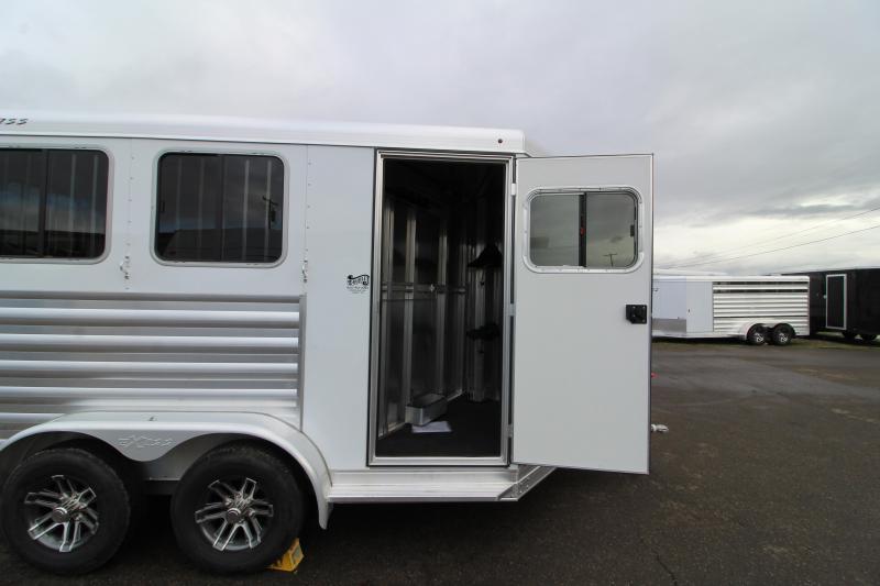 2020 Exiss Express XT 2 Horse Slant Trailer -  All Aluminum Construction - Drop Down Feed Windows -  Slam Latch Dividers