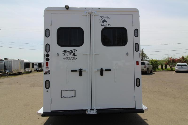 "NEW 2019 Trails West Sierra 3 Horse Trailer - 7'6"" Tall - Escape Door - Convenience Package - Drop Down Windows"