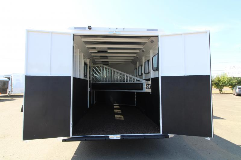 2020 Trails West Classic 10' x 10' L.Q. 4 Horse Trailer -  Slide Out - Side Tack - Drop Down Windows- Escape Door- Easy Care Flooring