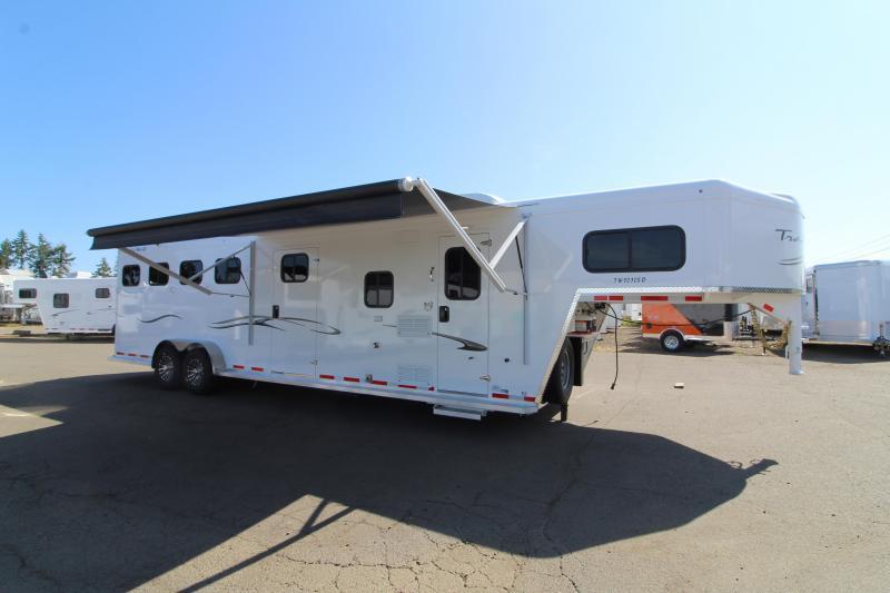 2020 Trails West Classic 10' x 10' L.Q. 4 Horse Trailer -  Slide Out - Side Tack - Drop Down Windows- Escape Door- Easy Care Flooring