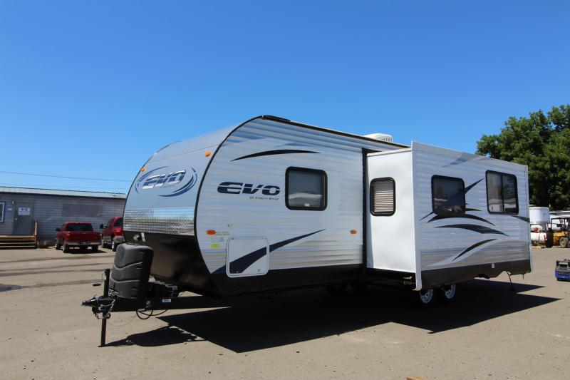 2016 Forest River EVO 2550 Travel Trailer - Storage Plus Door- Bunk Beds - Power Awning
