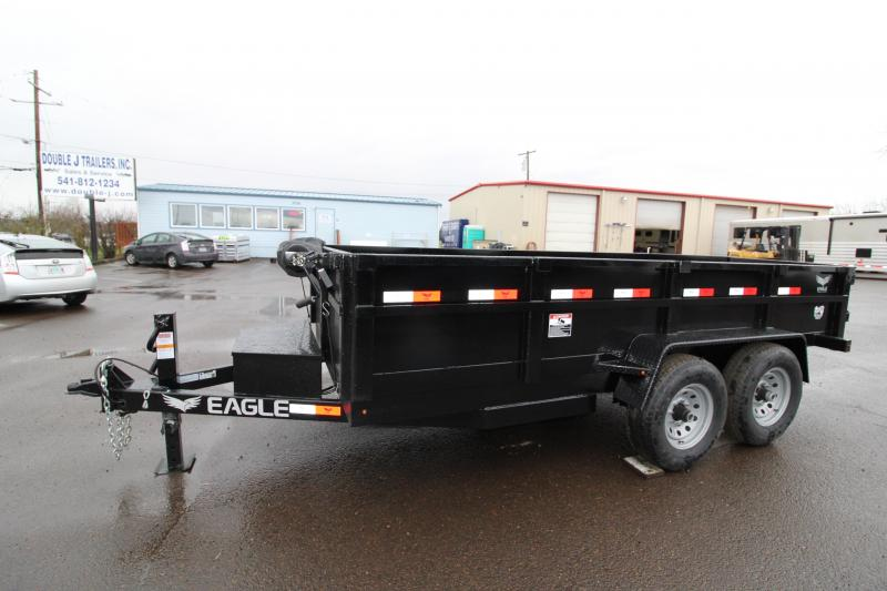 "NEW 2019 Eagle Trailer Black Hawk 14K Dump Trailer - Mesh Roll Tarp - Spare Tire - 30"" Deck Height - Tandem 7000# Axles - Leaf Spring Suspension - Manual Crank Jack - Heavy Duty 6' Ramps - PRICE REDUCED BY $200"