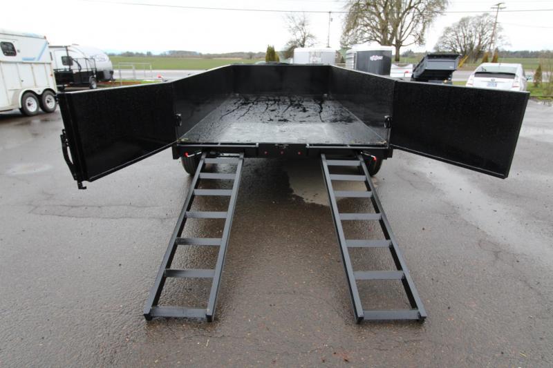 "NEW 2019 Eagle Trailer Black Hawk 14K Dump Trailer - Mesh Roll Tarp - Spare Tire - 30"" Deck height - Tandem 7000# axles - Leaf spring suspension - Manual crank jack - Heavy duty 6' Ramps - PRICE REDUCED"
