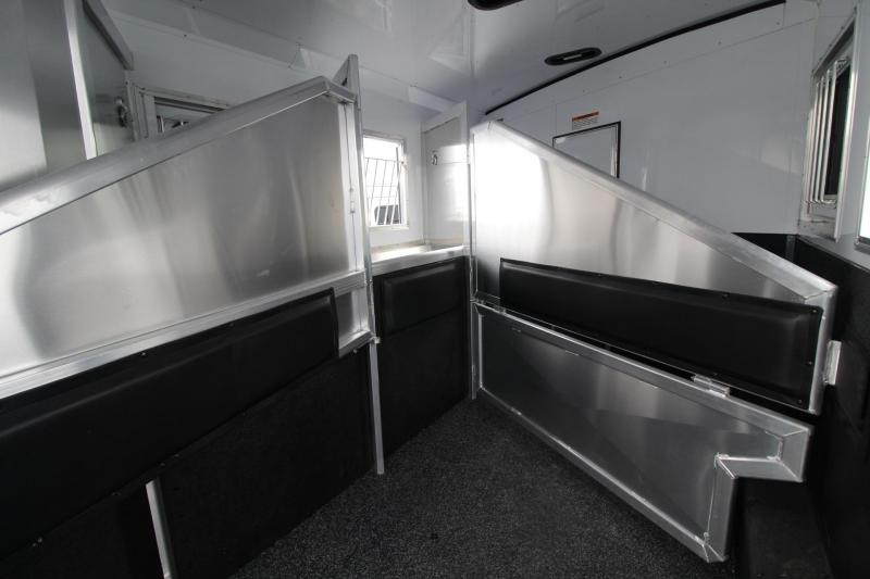 2019 Exiss Endeavor 8310 Living Quarters 3 Horse Trailer REDUCED $1600 8' wide 10ft SW - All Aluminum - Easy care flooring - Pass through door - Stud divider