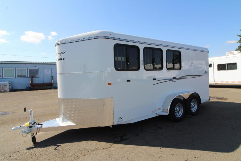 2020 Thuro-Bilt Shilo 3 Horse Trailer- Double Wall Construction - Enclosed Single Rear Door -  Floors Mats - 17' Long