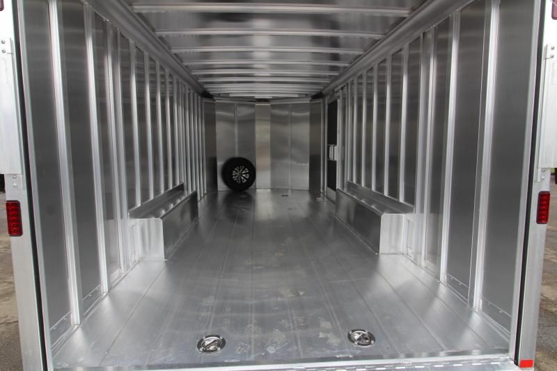 BELOW COST! NEW 2019 Featherlite 4926 20' Enclosed Car Trailer - All Aluminum - 10 Year Structural Warranty! - Charcoal Exterior Sheets - 7' Tall PRICE REDUCED BY $2850