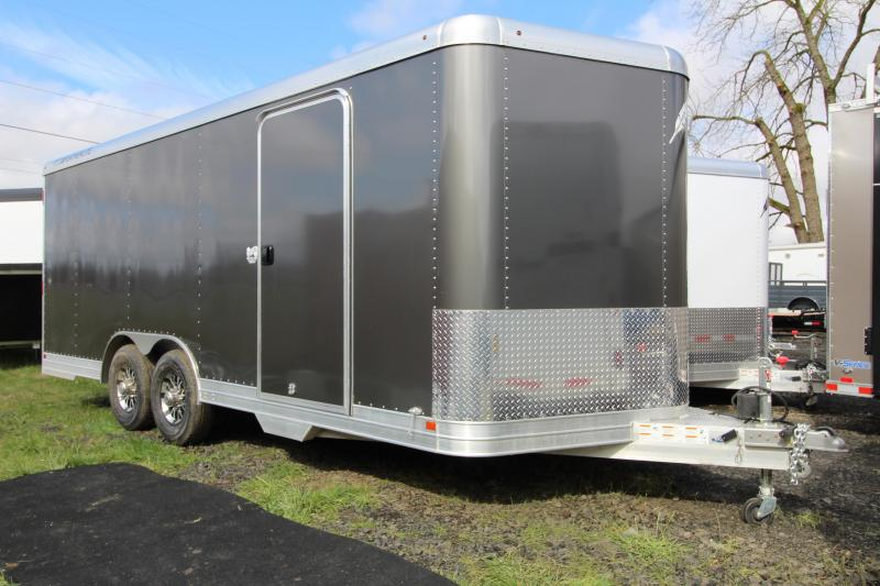 NEW 2019 Featherlite 4926 20' Enclosed Car Trailer - All Aluminum - 10 Year Structural Warranty! - Charcoal Exterior Sheets - 7' Tall - PRICE REDUCED $2350