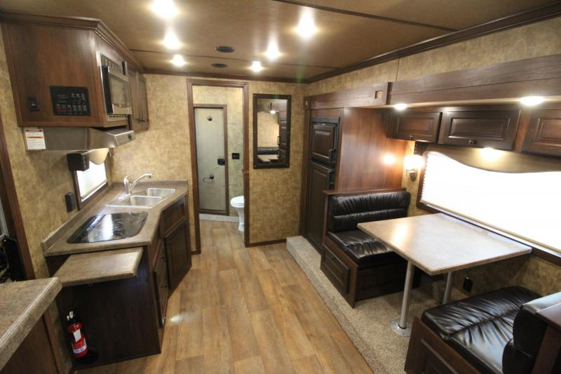 NEW 2019 Exiss 8312 - 3 Horse Trailer with 12' L.Q. Short Wall w/ Slide-out - All Aluminum - Drop Down Tail Side Windows - Easy Care Flooring