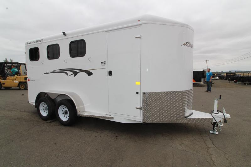 2020 Trails West Adventure MX 3 Horse Trailer - UPGRADED Rear Door Windows - Swing Out Saddle Rack - NEW Floor Pan with Larger Stalls! DO NOT MAKE LIVE UNTIL 2019 MODELS SELL
