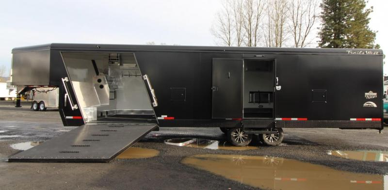 2020 Trails West RPM Burandt Edition 28ft Gooseneck Snowmobile Trailer W/ Furnace - Track Melt and much more