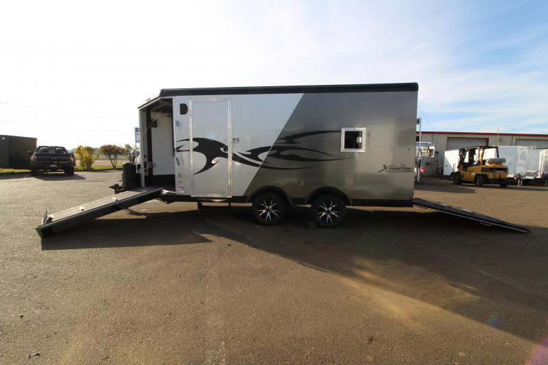 2020 Mirage Xtreme Sport 8.5' x 20' Snowmobile Trailer - Aluminum Work Bench - Heated Stereo Cabinet - Boot and Glove Dryer PRICE REDUCED $1,250