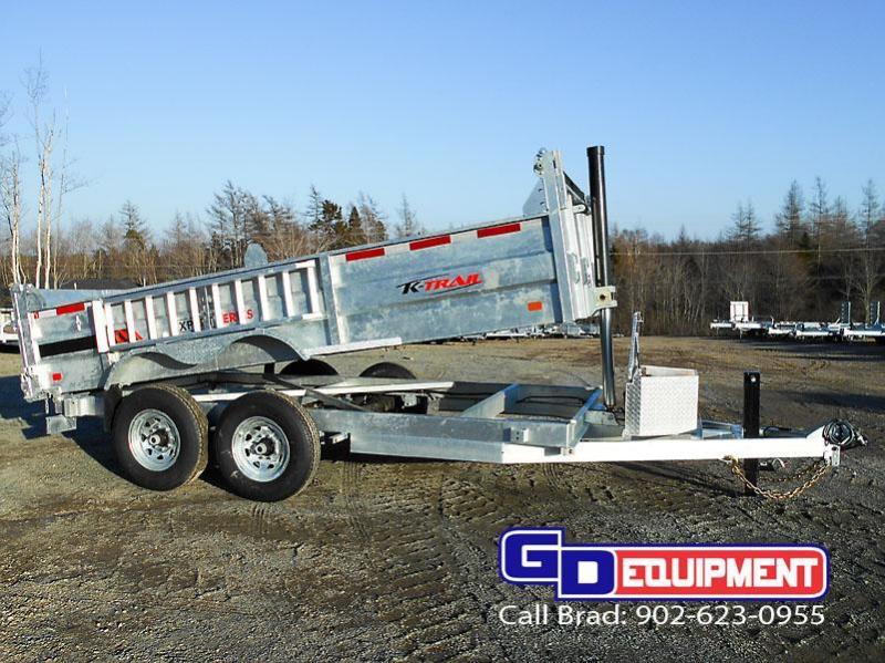"2020 K Trail 6' 8"" x 14' - 14000 LB Dump Galvanized"
