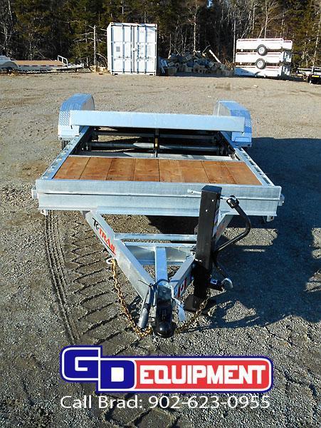 2020 K Trail 20' gravity Split Tilt 14K Equipment Trailer