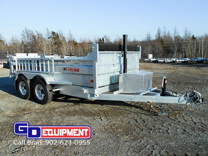 2020 K Trail 6.8 x 12 - 14000 LB Dump Galvanized
