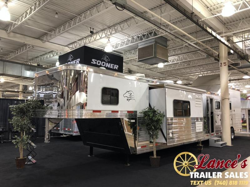 2020 Sooner Premier 8418 Living Quarters with Glide Horse Trailer