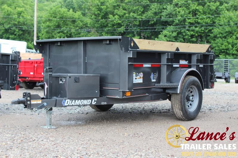 2019 DIAMOND C 5'x8' DUMP TRAILER