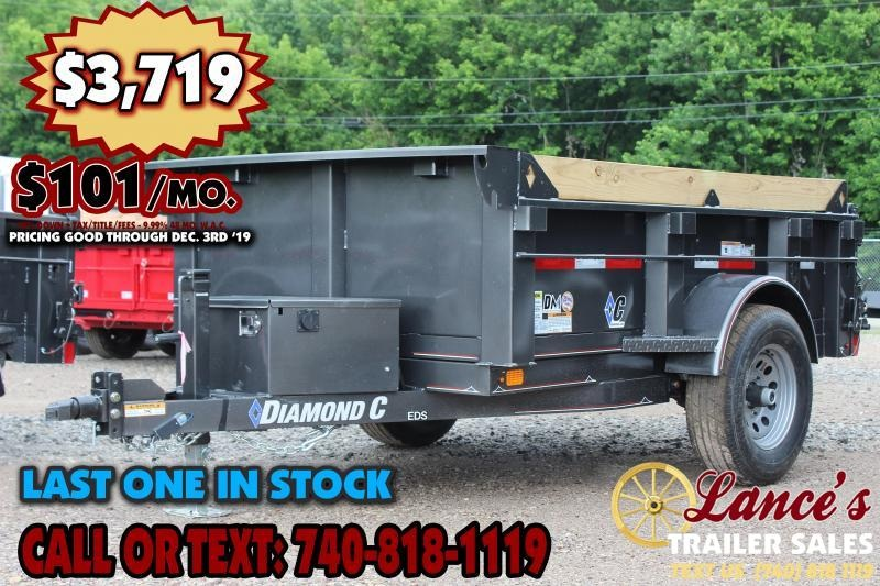 "2019 DIAMOND C 60""x8' DUMP TRAILER"