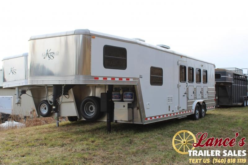 2008 Kiefer Built 28 Ft. 4 Horse Slant Load Living Quarters Horse Trailer