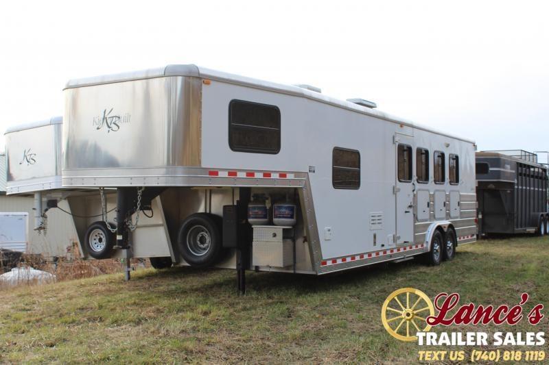 2008 Kiefer Built 28 Ft. 4 Horse Slant Load Living Quarters Horse Trailer