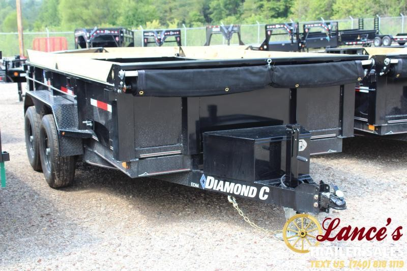 "2019 Diamond C 77"" x 12Ft. Deluxe Dump Trailer"