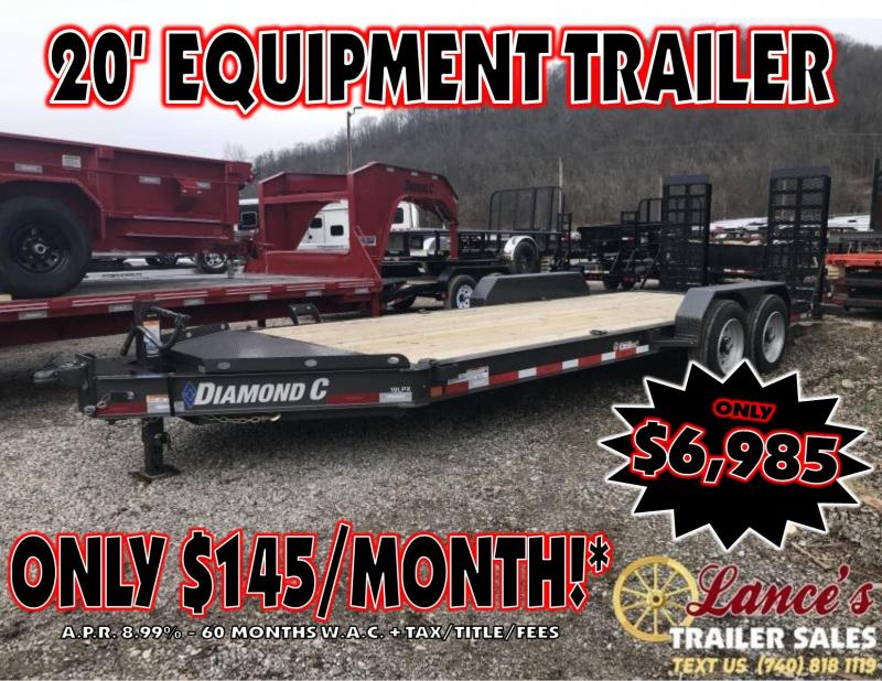"2019 Diamond C 82""x20' 18k Low Pro Equipment Trailer K1206928"