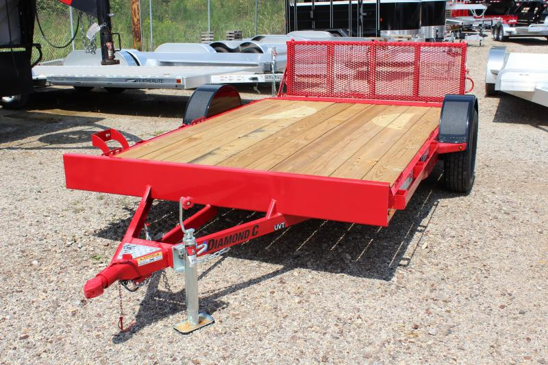 "2019 Diamond C UVT 77""x12' Utility Trailer"