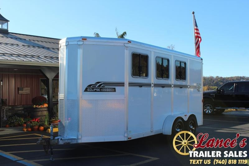 2010 Eclipse Aluminum Trailers 3HSLWP-SM-EXT Horse Trailer