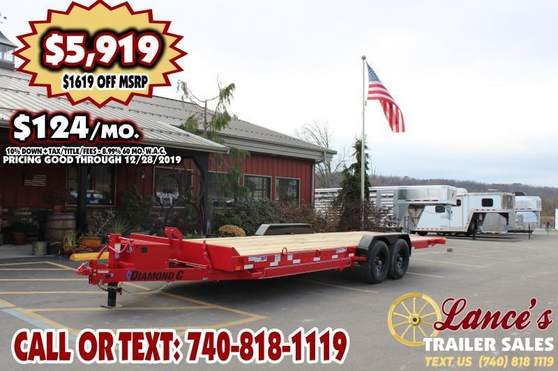 "2020 DIAMOND C 82"" x 24Ft. TILT EQUIPMENT TRAILER"