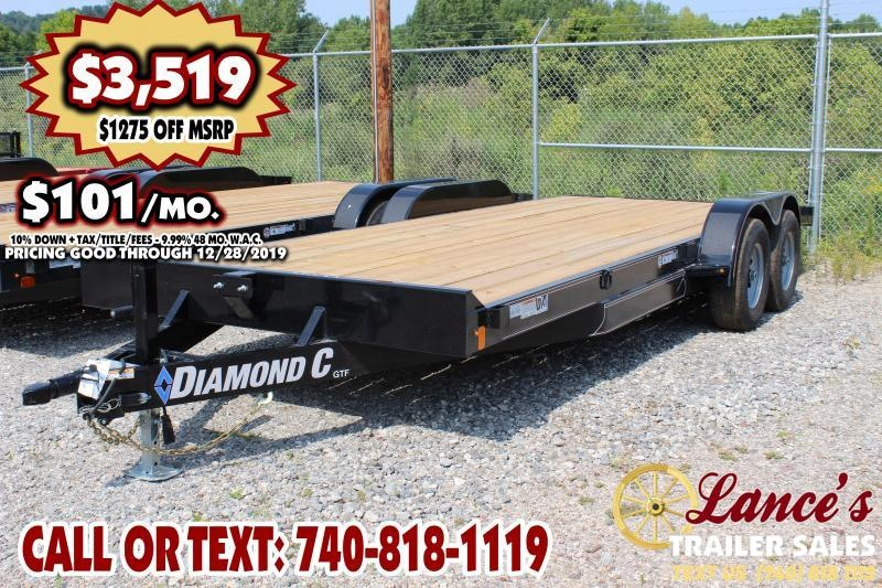"2019 Diamond C 82"" x 20Ft. Open Car Trailer"
