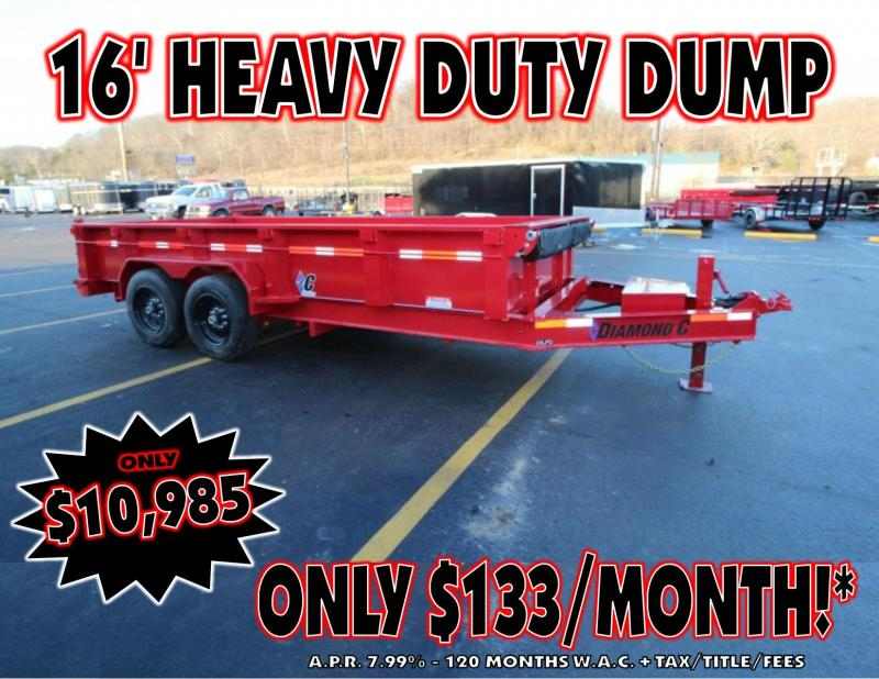 "2019 Diamond C 82""X16' Dump Trailer"