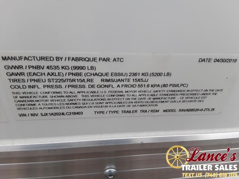 2019 ATC 8.5Ft. x 20Ft. Enclosed Car Hauler