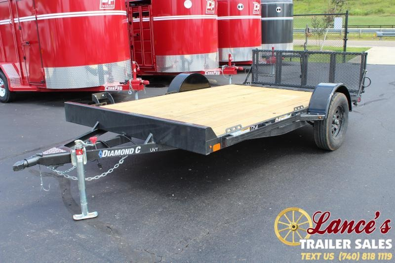 "2019 Diamond C 77""x12' Utility Trailer"