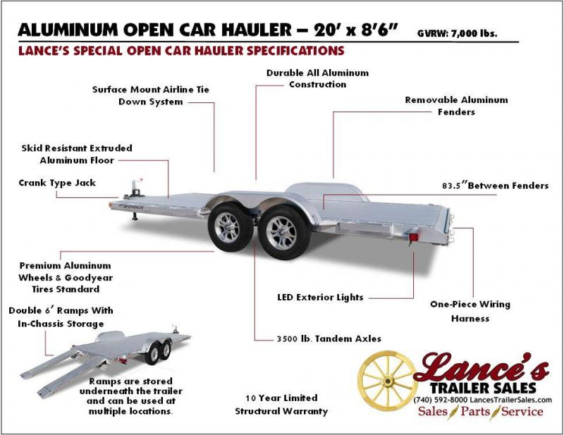 2018 Featherlite 3182 20' Aluminum Open Car Hauler JC147225