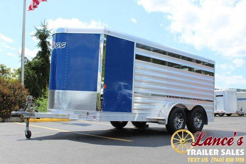 2020 Exiss Mini Combo Exhibitor Low Pro Show Bumper 15' Livestock Trailer