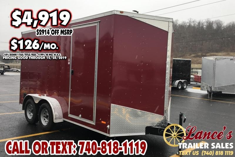 2019 RC Trailers 7Ft. x 14Ft. Enclosed Cargo Trailer