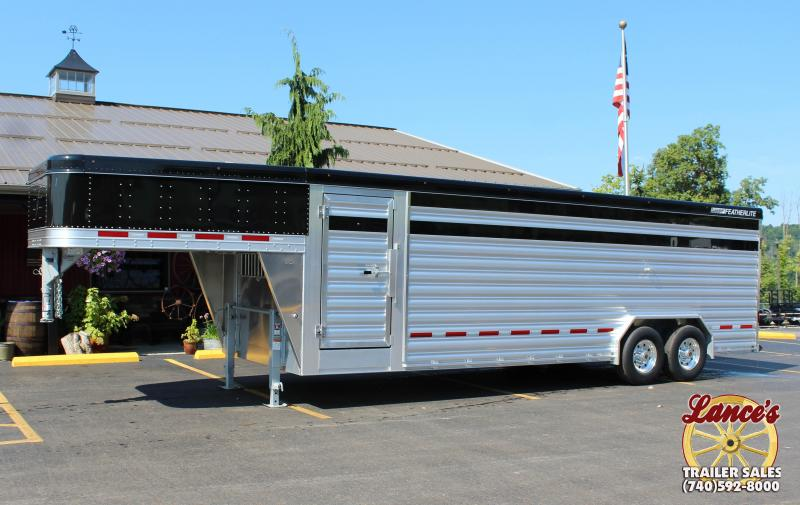 """2019 Featherlite 8127 8'X24' """"Presidential Edition"""" Show Cattle Trailer"""
