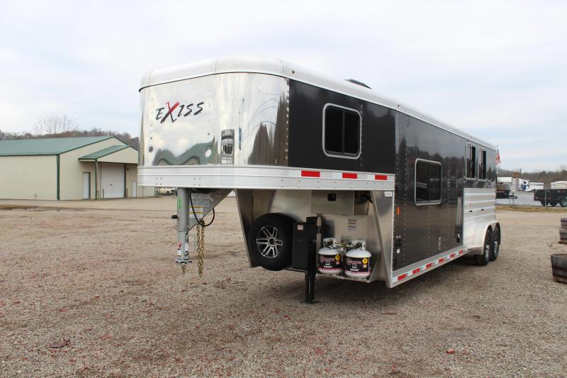 2020 Exiss Express CXF 2 Horse Slant Living Quarters Trailer