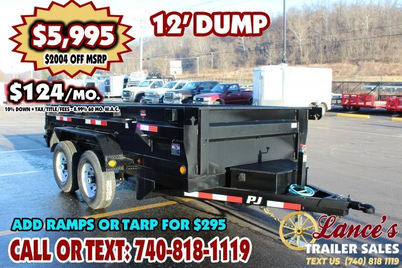 "2020 PJ 72"" x 12Ft. Dump Trailer"