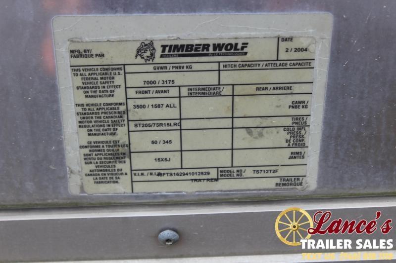 2004 12'x7' Timberwolf Cargo Trailer