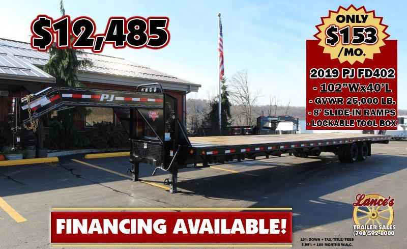 "2019 PJ 102""x40' Equipment Trailer"