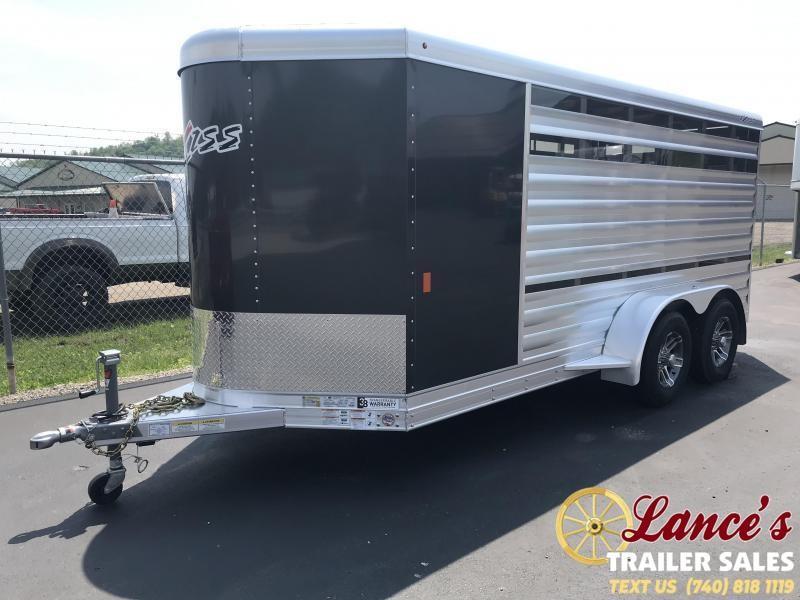 2020 Exiss 15Ft. Mini Combo Exhibitor Low Pro Show Livestock Bumper Pull Trailer