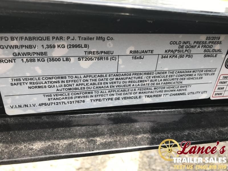 2020 PJ Trailers 12 Ft. UTILITY TRAILER
