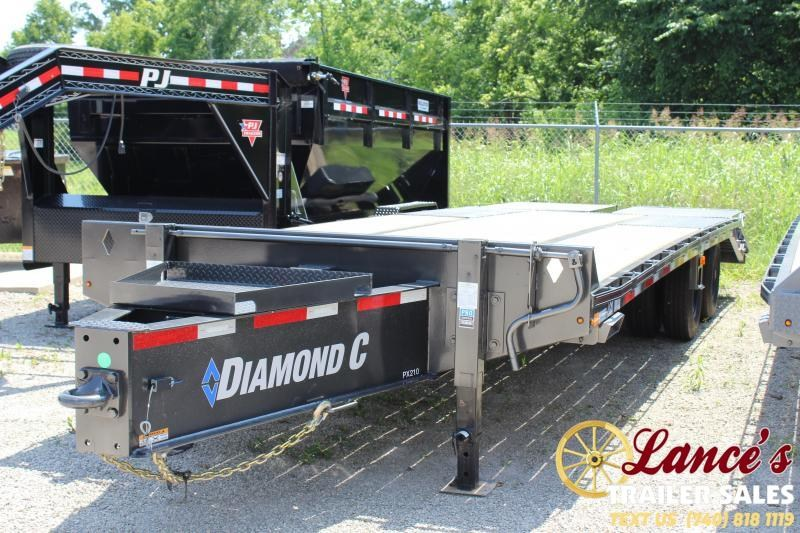 "2019 Diamond C Pintle Hitch 102""x25' Equipment Trailer"