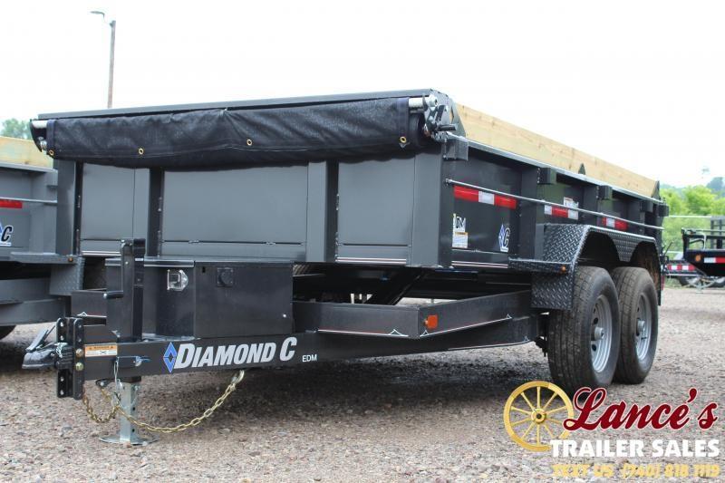 "2019 Diamond C 77"" x 12 Ft. Dump Trailer"