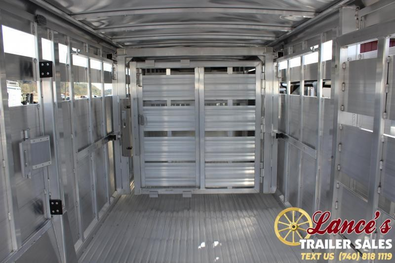 2020 Featherlite 7Ft. x 24Ft. Show Cattle Trailer w/Stainless Front & Ramp
