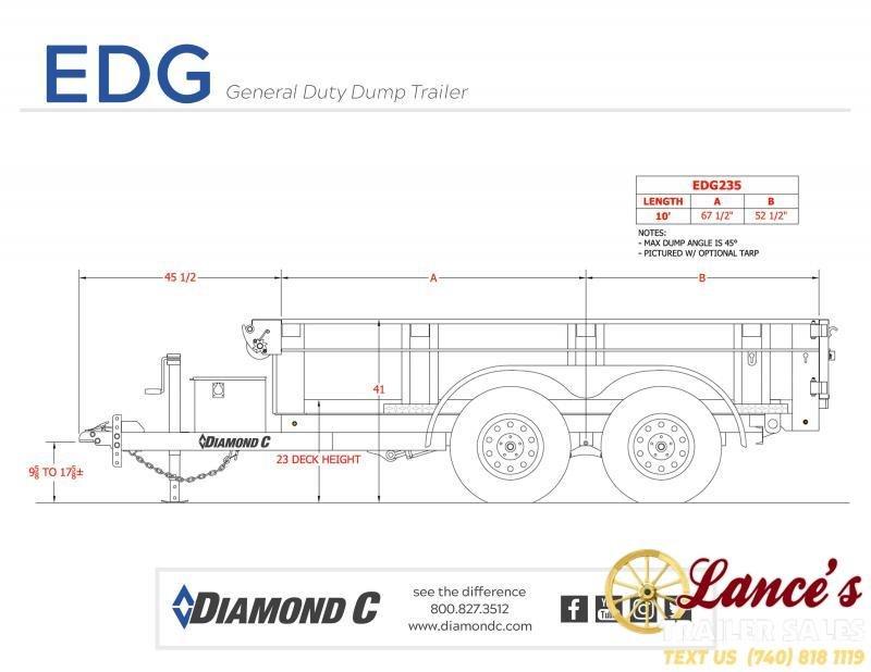 """2020 Diamond C 77""""x10' Dump Trailer"""