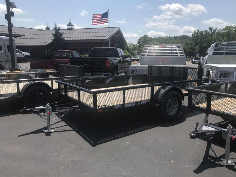 "2019 Diamond C 2PSA 77""x10' Utility Trailer"