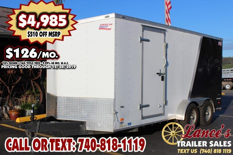 2019 American Hauler Industries 7Ft. x 16 Ft. Enclosed Cargo Trailer