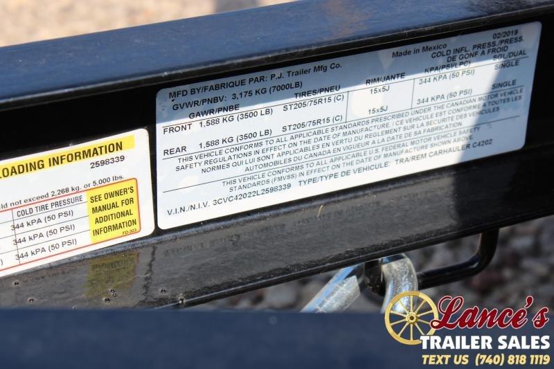 "2020 PJ 83"" x 20Ft. Open Car Hauler"